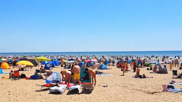 Britons Flock Camber Sands