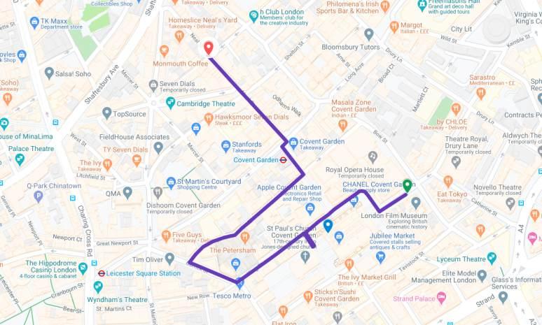 Walking Tour Covent Garden July 2020_